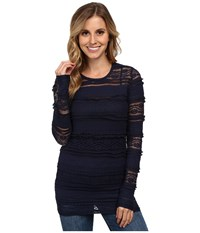 Ariat Floral Baselayer Black Iris Women's Long Sleeve Pullover