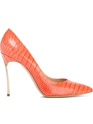 Casadei 'Blade' Heel Pumps Yellow And Orange