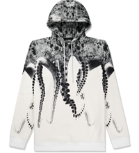 Octopus White Poly Hooded Sweater