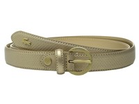 Lacoste Premium Chantaco Coated Leather Belt Gold Women's Belts