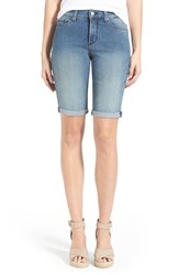 Petite Women's Nydj 'Briella' Roll Cuff Stretch Denim Shorts