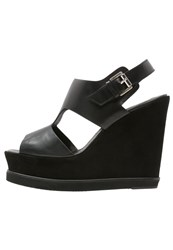 Whistles Papil Wedge Sandals Black