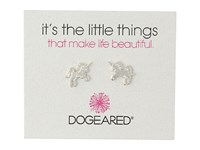 Dogeared Little Things Unicorn Stud Earrings Sterling Silver Earring