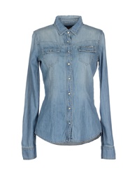 Met Denim Shirts Blue