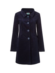 White Stuff Mossy Thatch Velvet Coat Navy
