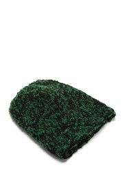 Anntian Two Tone Pilled Knit Beanie Hat Green