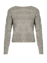 See By Chloe Round Neck Looped Knit Sweater Grey