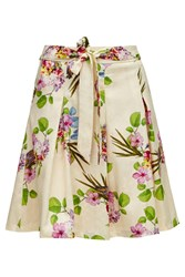 Almost Famous Floral Garden Party Skirt Cream