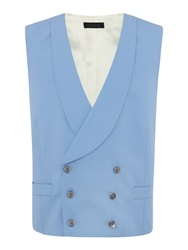 Chester Barrie Plain Tailored Fit Waistcoat Blue