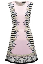 Markus Lupfer Anais Printed Silk Crepe De Chine Mini Dress Pastel Pink