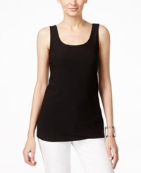 Alfani Solid Crepe Tank Top Only At Macy's Black