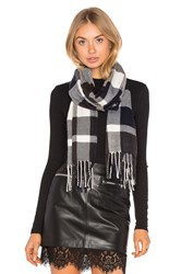 Plush Ultra Soft Fleece Plaid Scarf Charcoal
