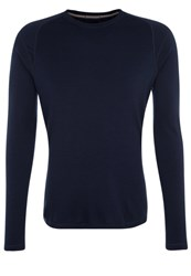 Smartwool Nts 250 Long Sleeved Top Deep Navy Dark Blue