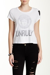 Rebel Yell Unruly Cropped Tee White
