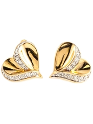 Nina Ricci Vintage Heart Shaped Earrings