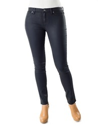 Dittos Mary Wax Coated Midrise Jeggings Navy Wax