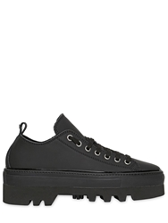 Dsquared Platform Rubberized Leather Sneakers Black