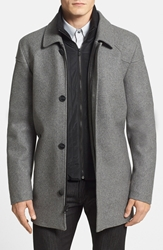 Vince Camuto Melton Car Coat Heather Grey
