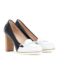 Tod's Two Tone Leather Pumps Black White