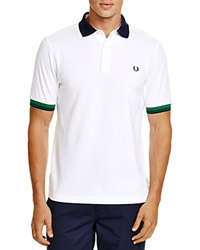 Fred Perry Color Block Pique Slim Fit Polo White