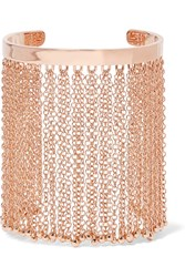 Arme De L'amour Rose Gold Plated Fringed Cuff Metallic