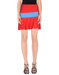 Space Style Concept Skirts Mini Skirts Women Red