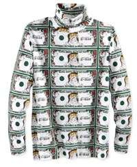 American Rag Men's Santa Bills Turtleneck Shirt Only At Macy's White