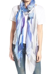 Lily And Lionel Women's Lily And Lionel 'Seine Blues' Modal And Silk Scarf