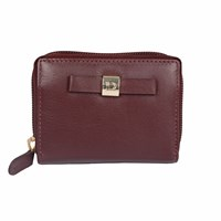 Dents Ladies Zip Round Credit Card Holder Bordeaux