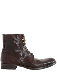Pete Sorensen Washed Laced Leather Boots