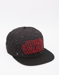 Asos Snapback Cap With Star Wars Embroidery Black