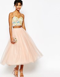 Asos Tulle Prom Skirt With Multi Layers Nude Beige