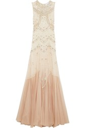 Needle And Thread Embellished Embroidered Tulle Gown