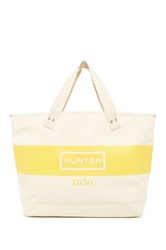 Hunter East West Graphic Canvas Shopper Yellow