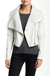 Yigal Azrouel Zip Sleeve Leather Jacket Gray