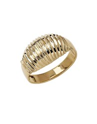 Lord And Taylor 14Kt. Yellow Gold Ribbed Dome Ring