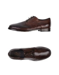 Alexander Hotto Lace Up Shoes Dark Brown