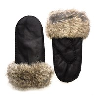 Lindo F Sheepskin Mittens Brown