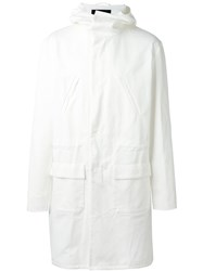 Raf Simons Parka With Back Patch Isolated Heroes White