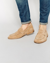 Selected Homme Ley Suede Loafers Tan