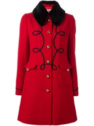 Vivetta Single Breasted Coat Red