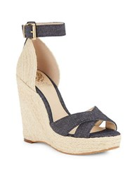 Vince Camuto Maurita Espadrille Wedge Sandals Blue