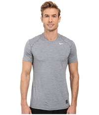 Nike Pro Cool Fitted Heather Top Cool Grey Cool Grey White Men's Clothing Gray