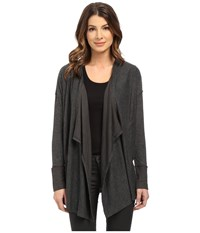 Splendid Alcove Double Face Jersey Cardigan Charcoal Women's Sweater Gray