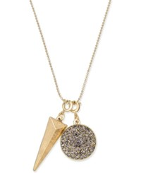 Inc International Concepts Gold Tone Pave Charm Pendant Necklace Only At Macy's