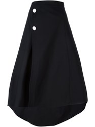 Marni Flared Asymmetric Skirt Black