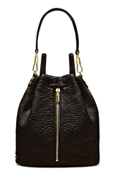 Elizabeth And James 'Cynnie' Leather Sling Backpack Black