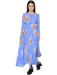 N 21 Printed Silk Crepe De Chine Maxi Dress