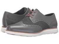 Cole Haan Original Grand Wingtip Castlerock Tweed Optic White Women's Lace Up Wing Tip Shoes Black