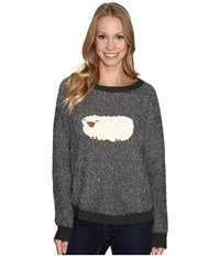 Woolrich Wooly Sheep Motif Sweater Charcoal Women's Sweater Gray